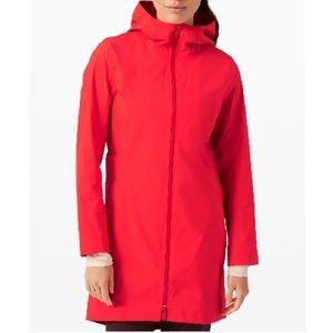 NWT Lululemon Rain Rebel Jacket Carnation Szs 0-8
